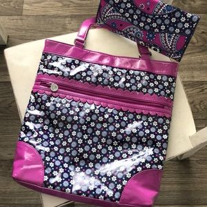 Vera Bradley Frill Collection Floral Tote & Wallet
